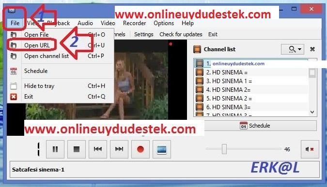 TANO HD İPTV İzleme programı ve kullanma talimatı >> Resimli